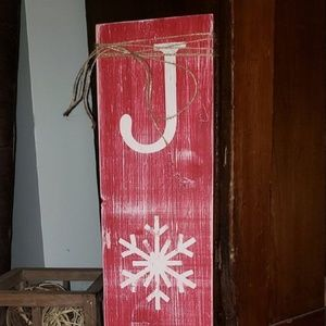 NEW Rustic Vertical JOY Sign with Twine!!